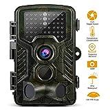 Wildkamera 1080P Full HD 12MP Jagdkamera IP56 Wasserdichte 120°Breite Vision Infrarote 20m Nachtsicht 2.4' LCD Überwachungskamera Beutekameras
