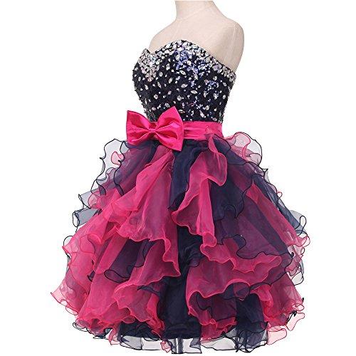Bridal_Mall - Robe - Boule - Sans Manche - Femme Noir - Noir
