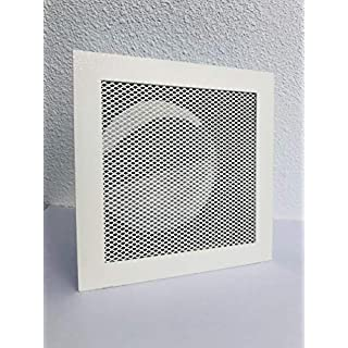 Warm air Grille with Mounting Frame, Oven, Grill, Air Vent Temperature Resistant White 180x 180mm
