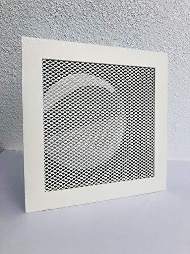 Rejilla de aire caliente, rejilla de horno, rejilla de ventilación altas temperaturas Blanco 180X 180Mm Con Marco de montaje