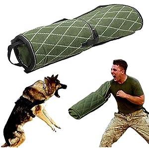HEI SHOP Dog Training Bite Bras Manches pour Jeunes Travailleurs Chiens Berger Allemand Malinois Chien de Travail Vert K9 Rottweiler