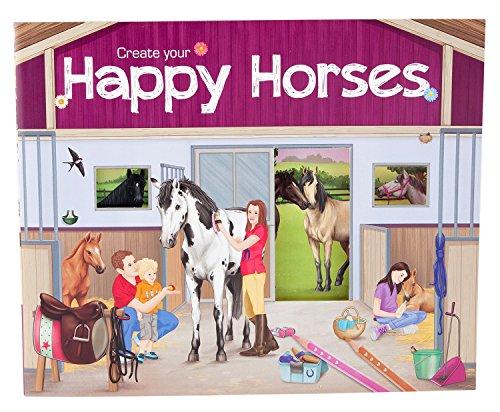 Trend Create your Happy Horses – Malbuch mit Stickern, 5689