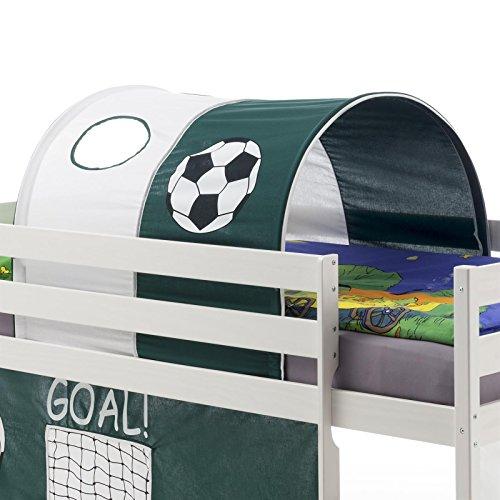 IDIMEX Tunnel GOAL mit Fußball Motiv in weiß/grün
