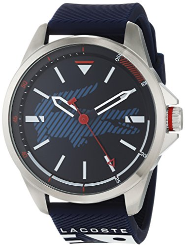 Lacoste Unisex-Adult Analogue Classic Quartz Watch with Silicone Strap 2010940