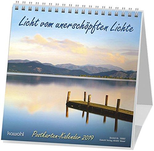 Licht vom unerschöpften Lichte 2020: Postkarten-Kalender mit Farbfotos und christlichen Texten