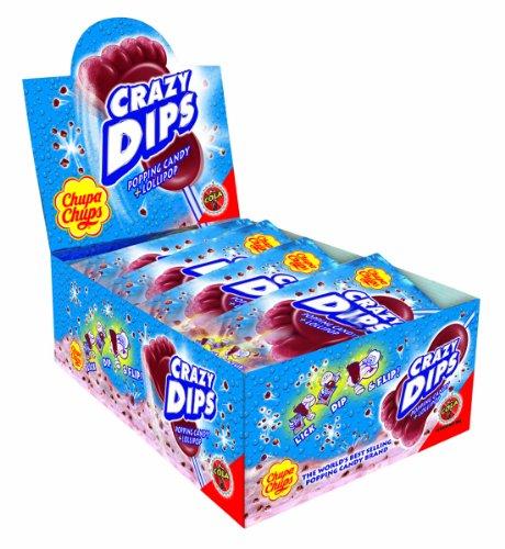 Preisvergleich Produktbild Chupa Chups Crazy Dips Lutscher Cola 24er Display,  1er Pack (1 x 384 g)