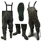 DNA NEW 100% Waterproof Lightweight Green PVC Carp Coarse Fly Fishing Chest Waders
