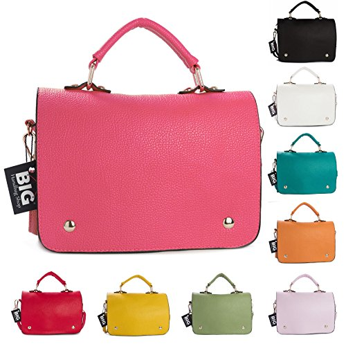 Big Handbag Shop - Borsa a tracolla donna (Orange (ST731))
