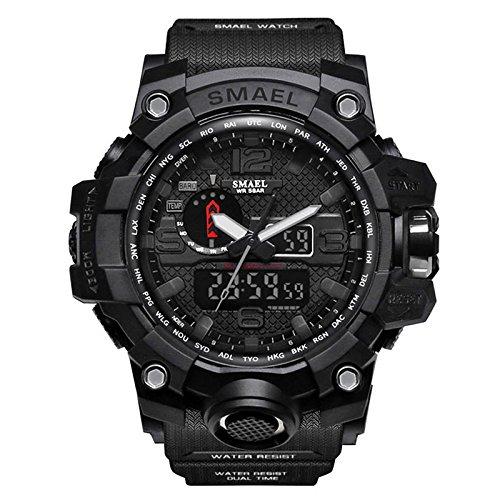 Preisvergleich Produktbild Zantec Sport-Uhr für Herren,  multifunktionelle,  digitale Armbanduhr,  als Geschenk zu Weihnachten oder einem Geburtstag.,  schwarz