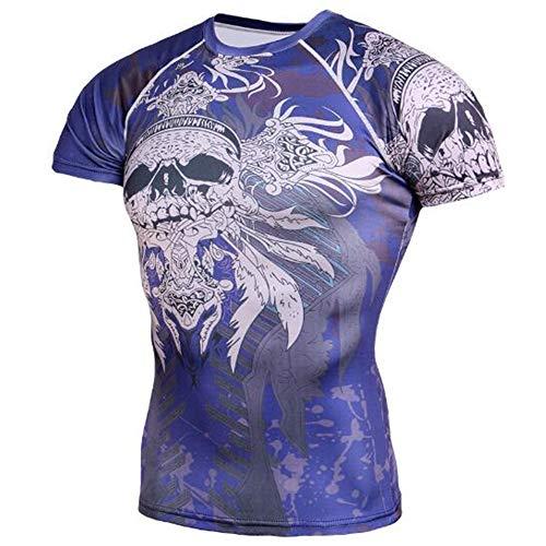 Sommer Kurzarm T-Shirts Top T Bluse Beiläufige Dünne Sport T-Shirt Männer Jungen T-Shirt Top,Fitness und Freizeit blau-A 4XL - Mantel Armee Der Union