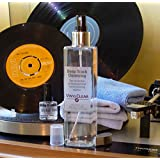Professional LP Record Solution. Antistatic Vinyl Record Restoration & Cleaning Kit (250ml) with Stand, Full Sized Microcloths & Stylus Cleaner Fluid