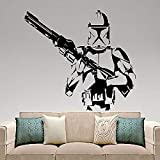 LUANQI Film di Fantascienza Adesivo Stormtrooper Vinile Adesivo Movie Hero Art Bedroom Decor 82x57cm