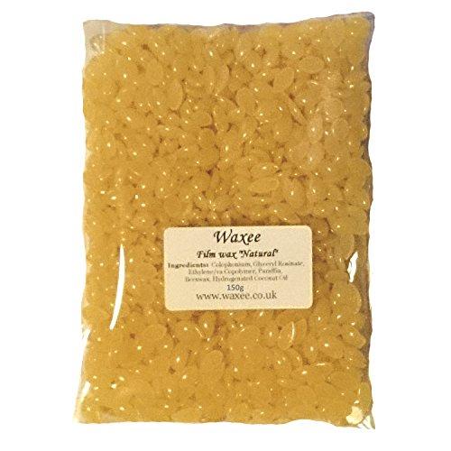 no-strips-low-temperature-natural-hot-film-hard-wax-pellets-brazilian-bikini-150g-bag