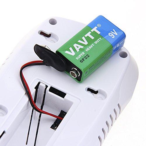SUNLUXY CO Alarm CO Melder Kohlenmonoxid-Detektor & Feueralarm mit Optischer Sensor batteriebetrieben weiß - 8