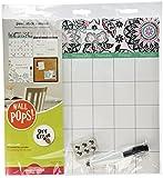 Wallpops WPE0755 - Organizer da parete con adesivi e motivo a fiori