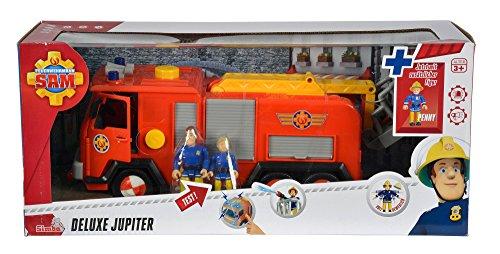 - 51NKF4f78pL - Simba 109257661 – Feuerwehrmann Sam Jupiter Feuerwehrauto mit 2 Figuren, 28 cm