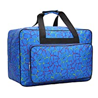 Waterproof Nylon Sewing Machine Tote Bag Sewing Machine Storage Bag Travel Portable Sewing Machine Hand Bags Carrying Case w/ Pockets & Handle for Most Standard Sewing Machines & Sewing Accessories