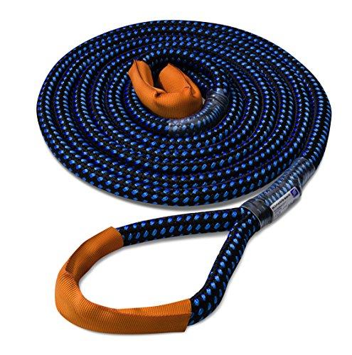 Seilflechter Kinetik-Kernmantelseil, Abschleppseil, 24 mm, 8 m lang, schwarz/blau, BL 8.000 daN (ca. KG), Dehnung >25{2e32a6bd1a163129746f5ae9a1f6de46b0ace969a942c5bc1b0159d5929edcfd} !