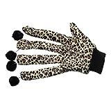 WINNERUS 1PC Haustier-Spielzeug-Leopard-Druck-Handschuh Katze 1PC Haustier-Spielzeug-Katze Handschuh-Leopard-Druck-Handschuh w / Wolle-Ball für Samt Kleiner Hundekatze Wollball für Katzen-kleinen Hund