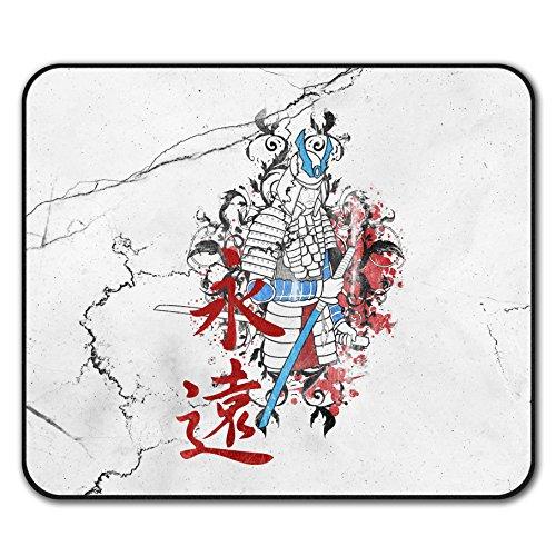 Kunst Fantasie Samurai Japan Mouse Mat Pad, Katana Rutschfeste Unterlage - Glatte Oberfläche, verbessertes Tracking, Gummibasis von Wellcoda