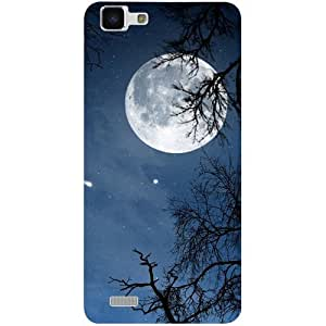 Casotec Night Moon Design 3D Printed Hard Back Case Cover for vivo Y27L