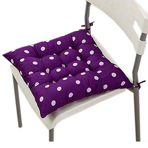 Blancho Intérieur/extérieur Soft Home/Bureau Siège carré Coussin respirant Coussin avec sangle, Dot Dark Purple