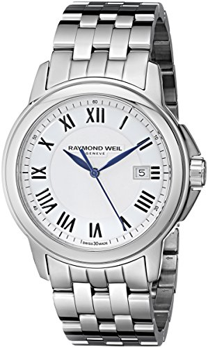 Raymond-Weil-Mens-42mm-Steel-Bracelet-Case-Swiss-Quartz-White-Dial-Analog-Watch-5578-ST-00300