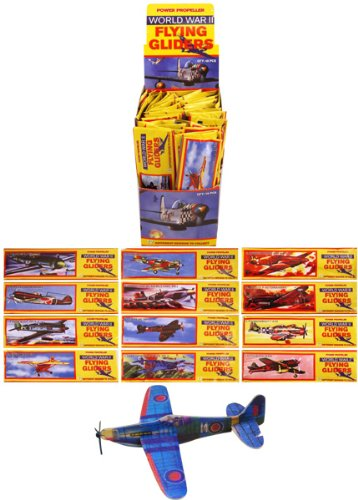 48 Flying Glider Plane Kits - childrens party bag filler - ww2 planes by Henbrandt