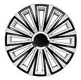 CM DESIGN 14 Zoll Sunset Silber Schwarz, Passend für Fast Alle FIAT z.B. für FIAT 500