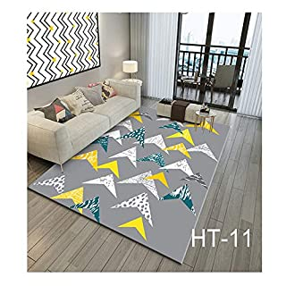WYFDM 3D Printed Carpet, Flannel Carpet Bedroom Bedroom Bedroom Carpet Children es Slislislip Carpet Bed Living Room Dining Room Lobby Pad 80 * 160cm (32 * 64 Zoll),HT11
