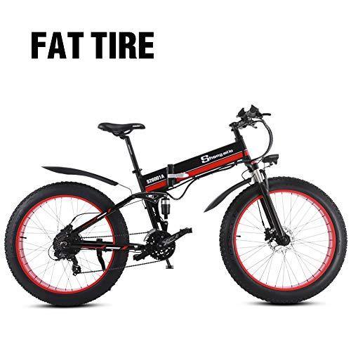 Sheng mi lo Bicicleta eléctrica 48V 1000W para Hombre Montaña Ebike 21 velocidades, 26 Pulgadas neumático...