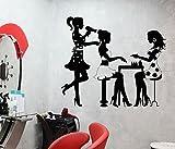 HCCY La parete figurine sarà vetrina il salone di bellezza wall Sticker per unghie poster adesivo impermeabile intagliato poster rimovibile 57*66cm