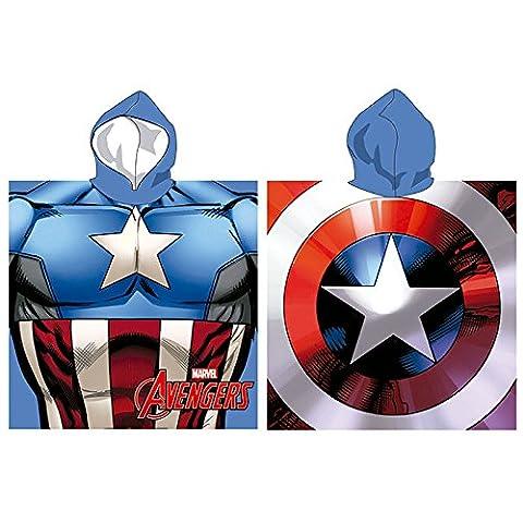 Set Avengers (Capitan America) Poncho Microfibre Plage 55x 110cm et Pack 5x Lapices original TV Avengers et Pack Chaussettes Tiendadeleggings