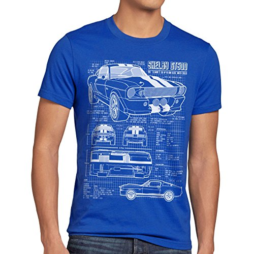 style3 GT 500 Blueprint Mens T-Shirt
