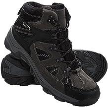 Mountain Warehouse Botas impermeables Rapid para mujer - Botas con empeine de ante y malla, botas de montaña con suela de goma para mujer - Para viajar, acampada