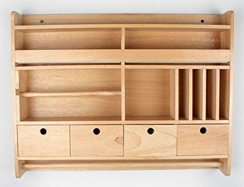 1PLUS Holz Küchenregal, weiss oder braun