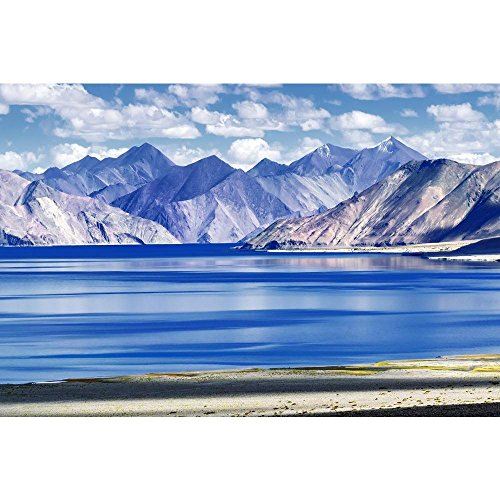 Pitaara Box PB Mountains & Pangong Tso Lake Ladakh Peel & Stick Vinyl Wall Sticker 30 x 20inch