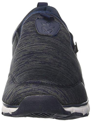 Geka Mega Slip In, Baskets Enfiler Mixte Adulte Bleu (Marine/grau Marine/grau)