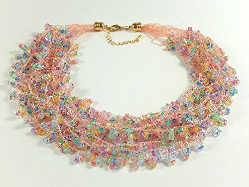 Mehrstrangkette Häkelkette Halskette Statementkette Geschenkidee Muttertag