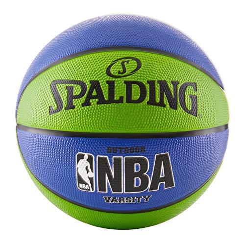 Spalding NBA Varsity Outdoor Gummi Basketball, 73745, grün/blau, Official Size 7 (29.5