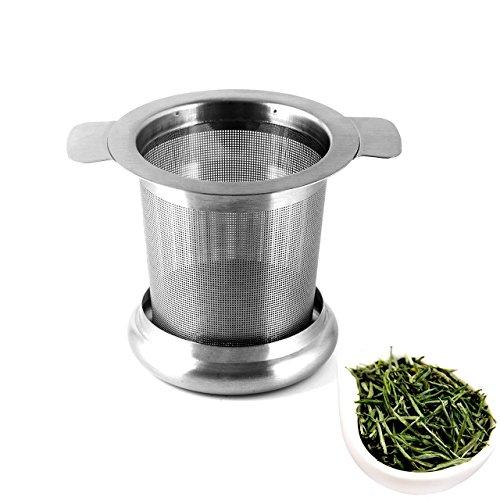 Wady Teekanne Filter Edelstahl Tea Tube Edelstahl Teekanne 6,5x 8cm Ende Loch mit Wasserhahn mit Becher Deckel Teetasse Tasse