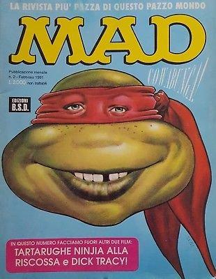 Mad 2 1991 [Tartarughe Ninja alla riscossa, Dick Tracy] ed. B.S.D. FU13