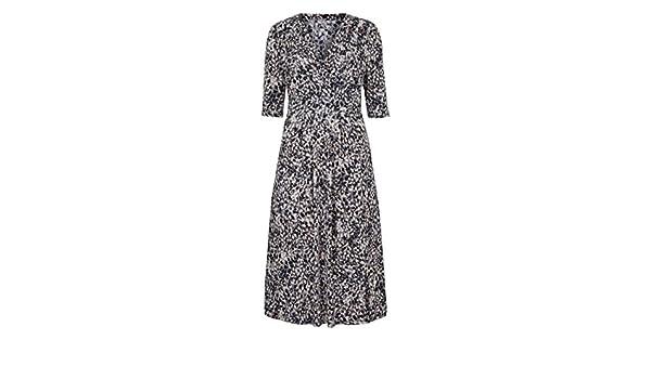 Womens V Neck Top Textured Short Sleeve Lorraine Kelly Jersey JD Williams