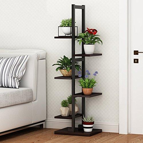 YGR huaji huapen Blumenständer Pflanzenregal Holz Pflanzenständer Metall Gartenpflanze Display...