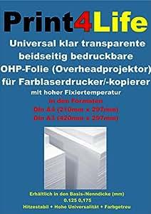 50 blatt din a3 universal ohp overheadprojektor folie. Black Bedroom Furniture Sets. Home Design Ideas