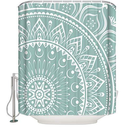 """Mandala Vorhang für die Dusche, Indian Art Designs Badezimmer Dekorationen, Polyester, multi, Extra Long 72\"""" x 84\"""""""