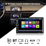 KKmoon Car Radio 7 Inch Touch Screen Stereo 2 Din Car Video USB MP3 MP5 Player Support Microphone BT