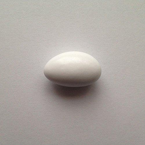 Taufmandeln 1 kg hellblau, rosa oder weiß (für mind. 65 Gäste, 0,15 EUR/G) - Gastgeschenke Taufe Bonboniere Kommunion Mitgebsel Konfirmation Give Away Babyparty - Mandeln Taufe Taufbonbons Zuckermandeln, Farbe:weiß glänzend