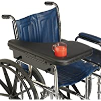 Sammons Preston Premium Flip-Away Half Lap Tray, clear Wheelchair Accessory Fits Right Side
