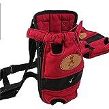 Portable Pet Travel Carrier cane zaino petto sacchetti dell'animale domestico cane Pack borsa protorace doppia spalla borse L dimensione per gli animali domestici all'interno di 5500g rosso